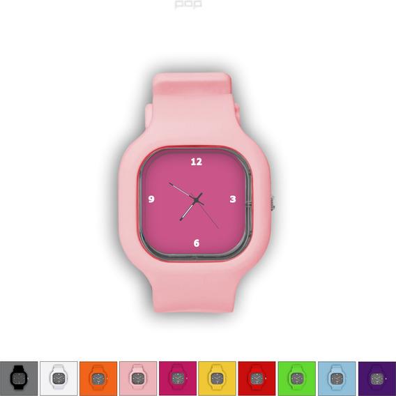 Relógio Pulseira Silicone Troca Cores Resistente Rosaesc