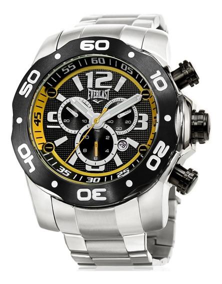 Relógio Everlast Esportivo Masculino E595 Cronógrafo Aço