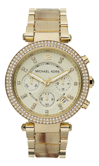 Relógio Mk Michael Kors Dourado Perolado Mk5632/dn
