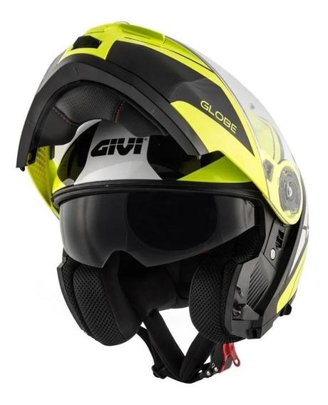 Capacete Givi X21 Globe Preto/branco/amarelo