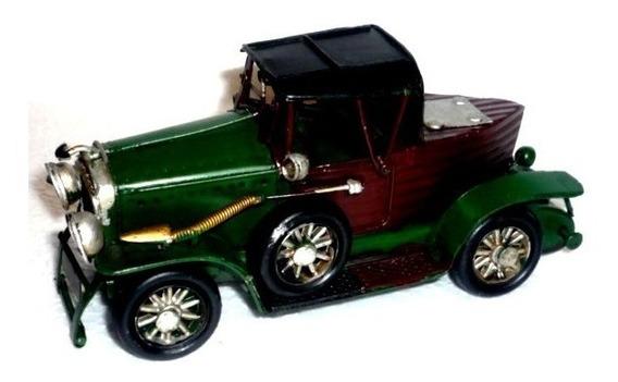 Juguete Auto Antiguo Chapa-artesanal-pieza Única - Miniat.