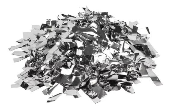 Confeti Rectangular De Papel Metalico Color Plata Maquinaco2