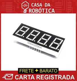 Display 7 Segmentos 4 Dígitos 0.56 Vermelho Ânodo Arduino Pi