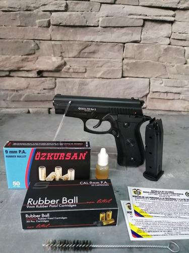 Pistola Traumatica Ekol P29 Rev.2+2prov 50tiros+cepillo