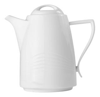 Tetera Tapa Redonda Porcelana Blanco Crown Baccara