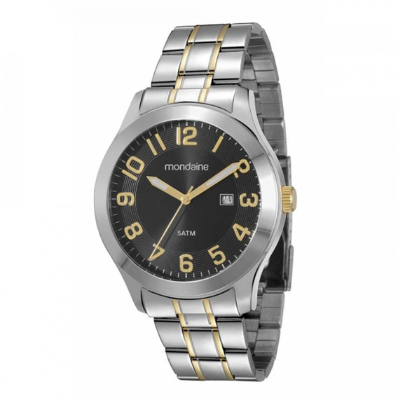 Relógio Mondaine Dourado E Prata 78419gpmbba3 - 02