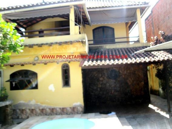 Miguel Couto/nova Iguaçu.casa 4 Quartos(1 Suíte C/ Hidro), Quintal C/ Piscina E 2 Vg. Garagem - Ca00471 - 32690508