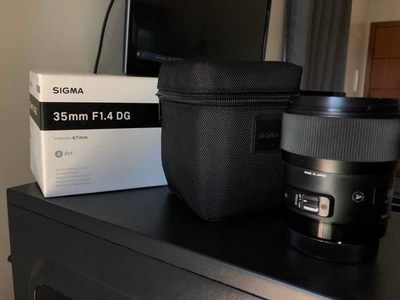 Lente Sigma 35mm 1.4 Art Para Canon