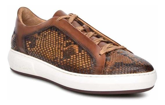 Sneakers Cuadra Para Caballero En Piel De Pitón C32pbbi