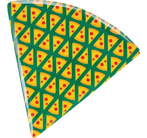 Prato Para Pizza De Melamina Triangular 22cm Cv151667 Pedaço