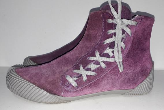 Zapatillas Botitas Xl Tipo Cuero Descarne Violeta T 38 Mujer
