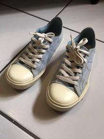 Tênis Nike Azul Bebê Com Branco Tamanho 36