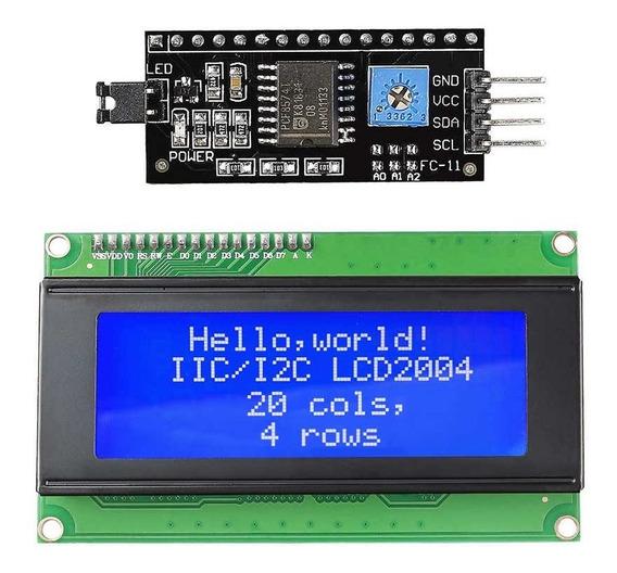 Modulo I2c + Display Lcd 20x4 P/ Arduino, Pic, Raspberry