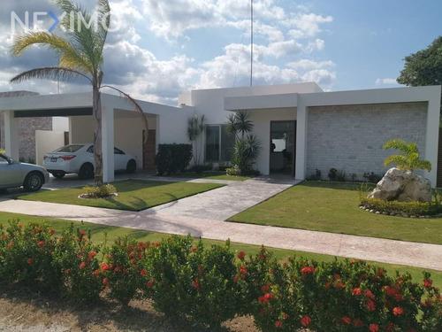 Imagen 1 de 18 de Renta Casa De Un Piso En Privada Blue Cedar Con Amenidades En Komchen Merida Yucatan