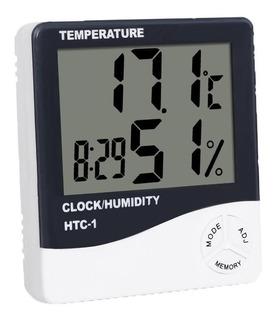 Reloj Despertador Termometro Digital Temperatura Humedad