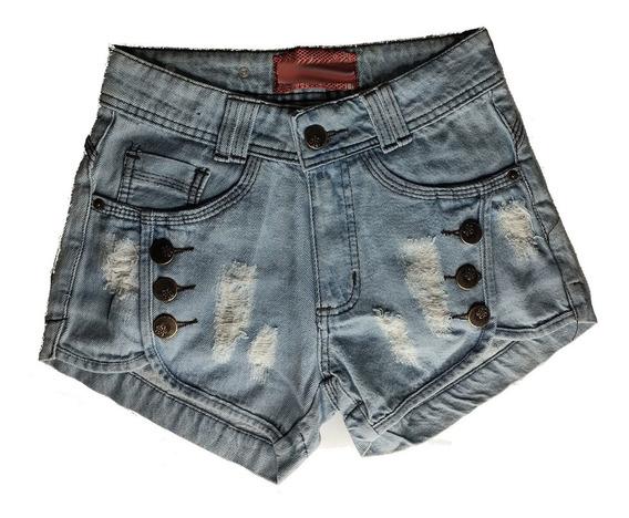 Shorts Jeans Feminino Cintura Alta Hot Pants St009