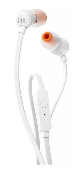 Fone De Ouvido Jbl T110 Branco Intra Auricular C Microfone