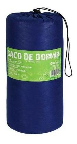 Colchonete Saco De Dormir Acampamento Camping  ( Azul )