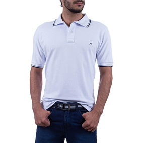 3d28af099b Camisa Polo Colombo Masculina Branca Lisa Upper 29984