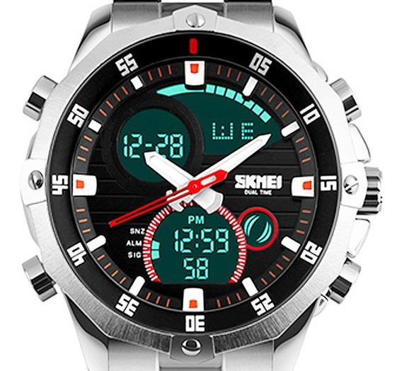 Relógio Masculino Skmei Esportivo Prata Garantia