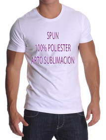 Pack Oferta X6 Remeras Lisas Spun Adulto - 100% Poliester