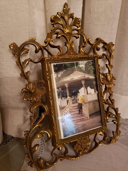 Porta Retrato Em Bronze Antigo