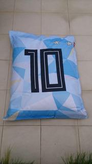 Puff Seleccion Argentina Numero 10
