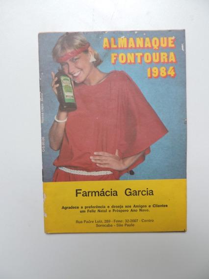 Almanaque Fontoura 1984 - Farmácia Garcia Sorocaba São Paulo