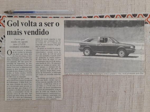 Recorte Jornal Matéria Reportagem Vw Gol Quadrado 1994 Anúnc