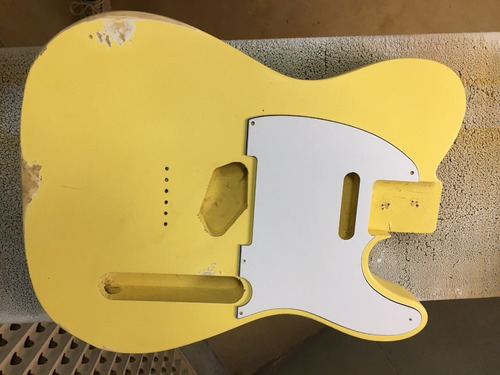 Corpo Guitarra Modelo Tele Com Pintura Nitro Relic