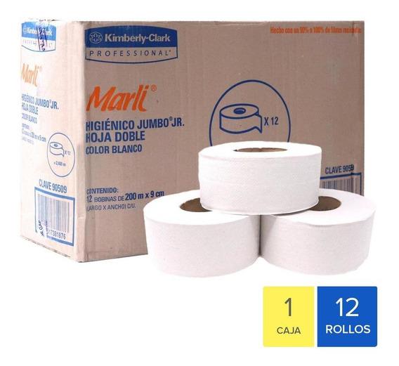 Caja Papel Higiénico En Bobina Marli Jumbo Jr. Con 12 Rollos