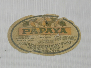 Etiqueta Bebida Papaya Ccu Antigua Chile