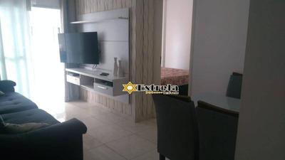 Apartamento Com 1 Dormitório À Venda, 56 M² Por R$ 210.000 - Vila Guilhermina - Praia Grande/sp - Ap10377