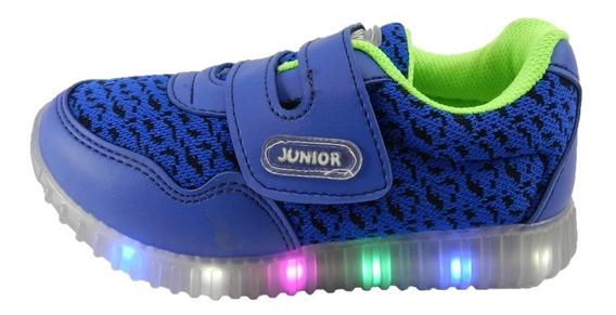 Zapatillas Con Luz Al Caminar Colores Rojo 6336 Azul 5287
