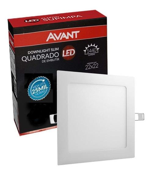 Plafon Led Quadrado 18w Painel Embutir Slim Avant 6500k