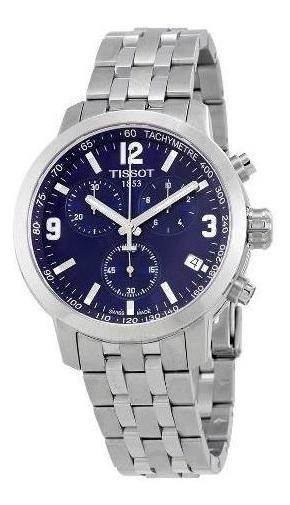 Relógio Tissot Prc 200 T055.417.11.047.00 Azul Aço Novo