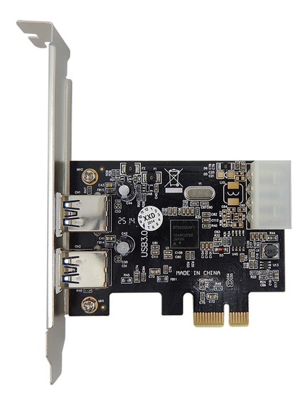 Placa Usb 3.0 Pci-e 1x Com 2 Portas Espelho Low Profile