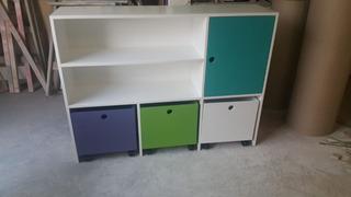 Mueble Cubos Baul Guardajuguetes Infantil Pacualita Deco Zo