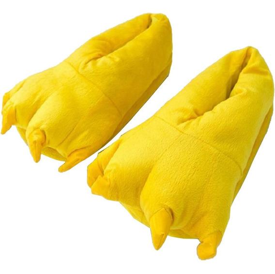 Pantufa Pikachu Garras Amarela Confortável Pronta Entrega