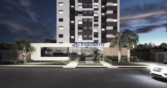 Apartamento Com 2 Dormitórios À Venda, 81 M² Por R$ 556.500,00 - Gleba Palhano - Londrina/pr - Ap0275