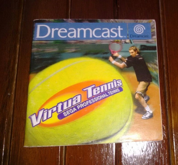 Manual Encarte Dianteiro Frente Virtua Tennis Sega Dreamcast