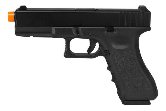Pistola De Airsoft À Gás Gbb Green Gás R17 Black Blowback 6mm - Army