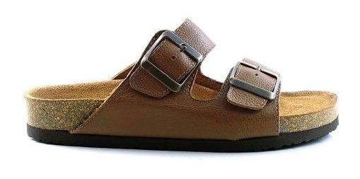 Sandalia Mujer Cuero Briganti Chinela Zapato Goma Mcch02303