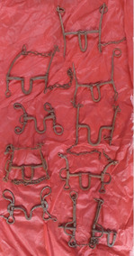 9 Freios De Cavalos E Mulas Antigos Decoração Coleçao