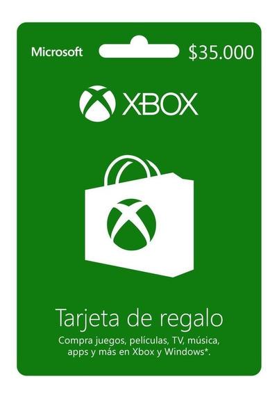 Xbox Live Prepago $35.000 Código Digital