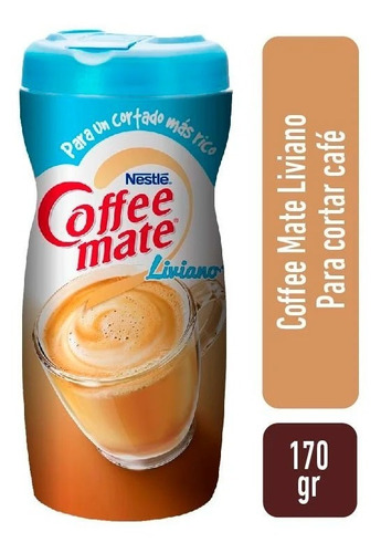 Coffee Mate Light Crema En Polvo X 170 Gr
