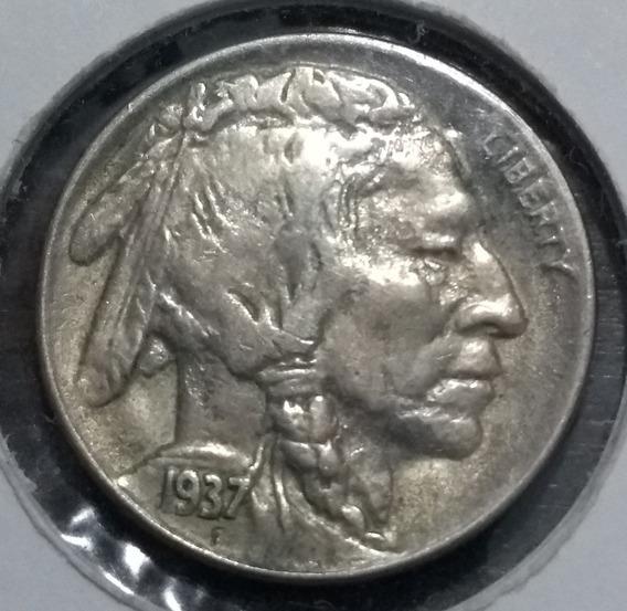 1937d - Moneda De Estados Unidos - 5 Cent - Indio - Búfalo