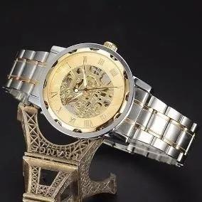 Relógio Skeleton Masculino Mecânico 7p3o K3e7 Winner