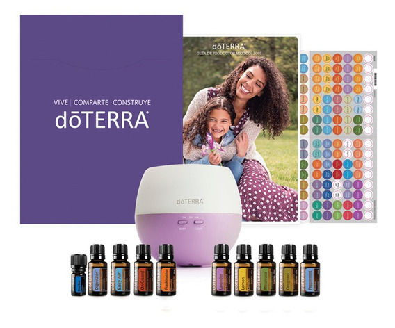 Doterra Home Essentials Premium Kit 15ml + Estuche Madera
