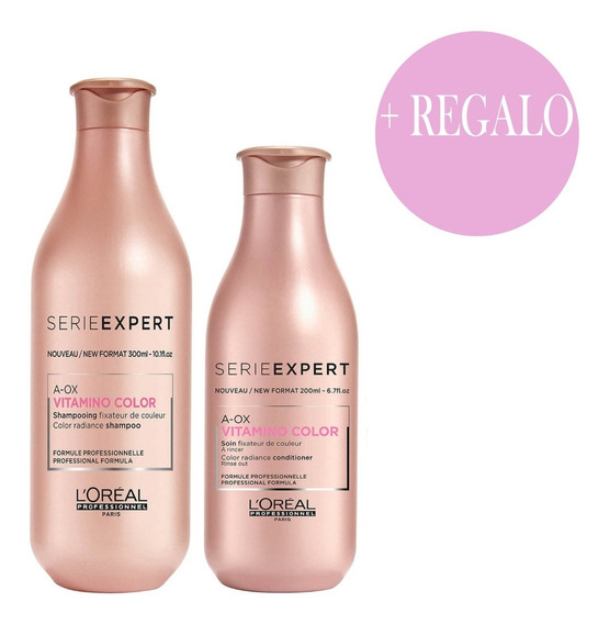 Combo Loreal Shampoo 300ml +acondicionador 200ml Vitamino
